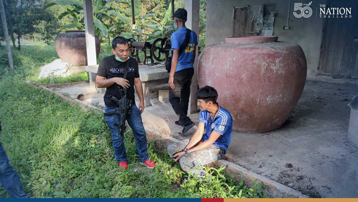 Alleged drug dealer and teen arrested in Nakhon Si Thammarat