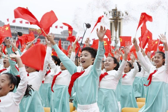 A ceremony marking the centenary of the Communist Party of China (CPC) is held at Tian'anmen Square in Beijing, capital of China, July 1, 2021.