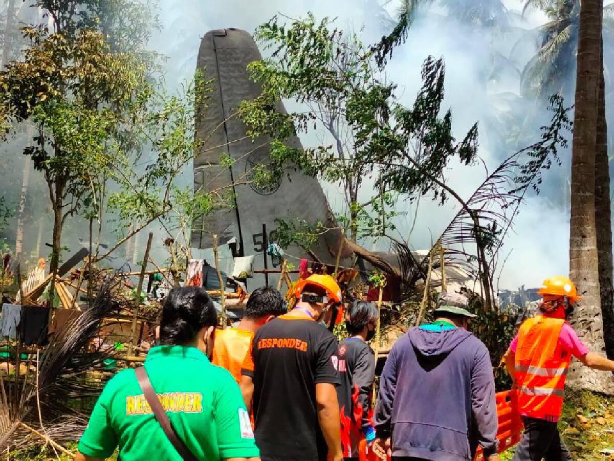 [Philippines] 42 military men, 3 civilians dead in C-130 plane crash in Sulu
