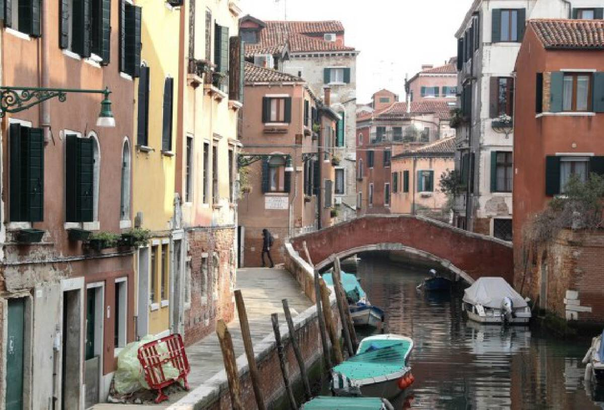 Photo taken on Feb. 23, 2020 shows a view in Venice, Italy.