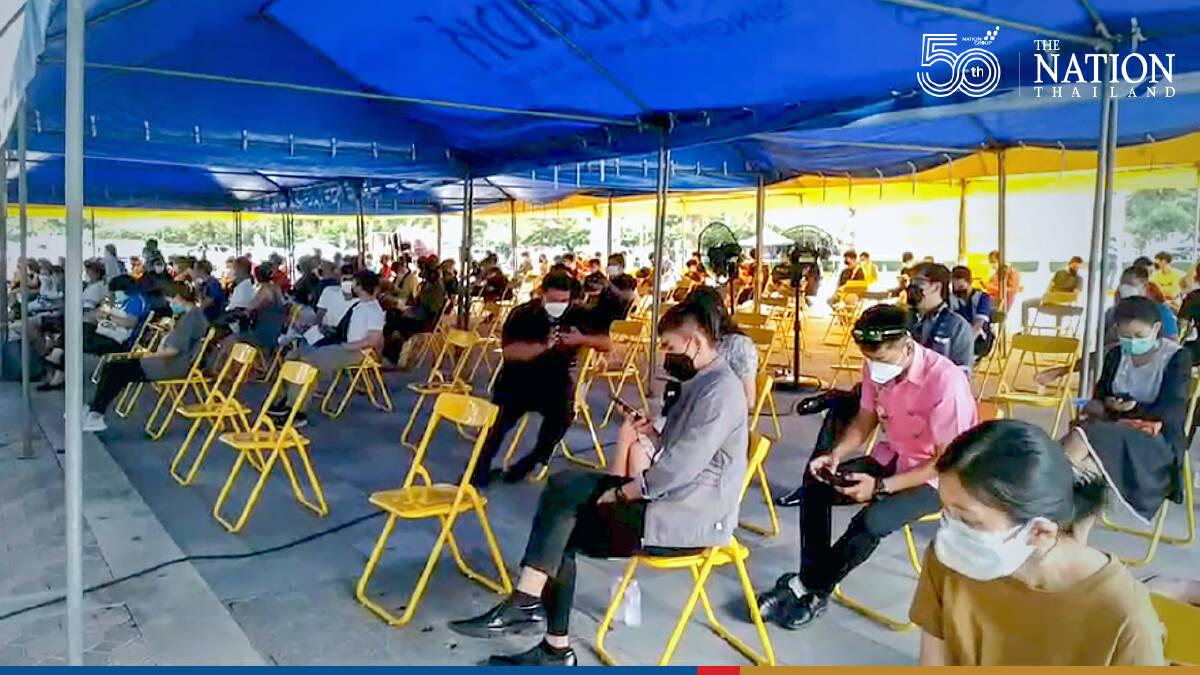 People flock to Rajamangala Stadium for rapid tests