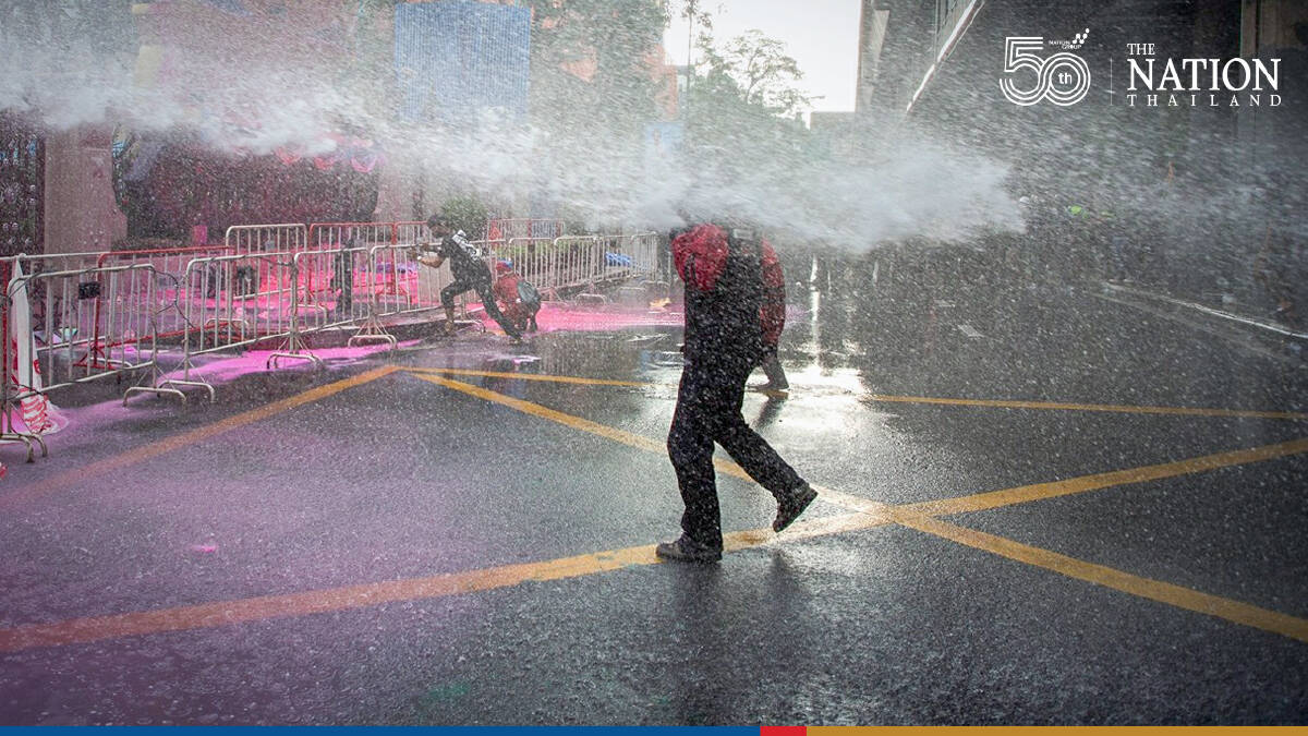 Thalu Fah protesters clash with police at Tuesday rally