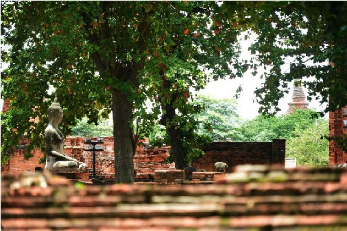 Photo taken on Aug. 17, 2021, shows the historic city of Ayutthaya in Ayutthaya, Thailand.