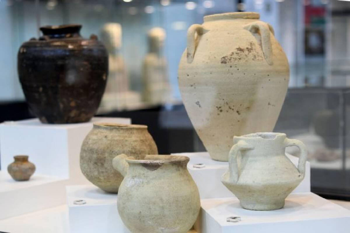 Photo taken on Aug. 11, 2021 shows exhibits in Kuwait National Museum in Kuwait City, Kuwait.