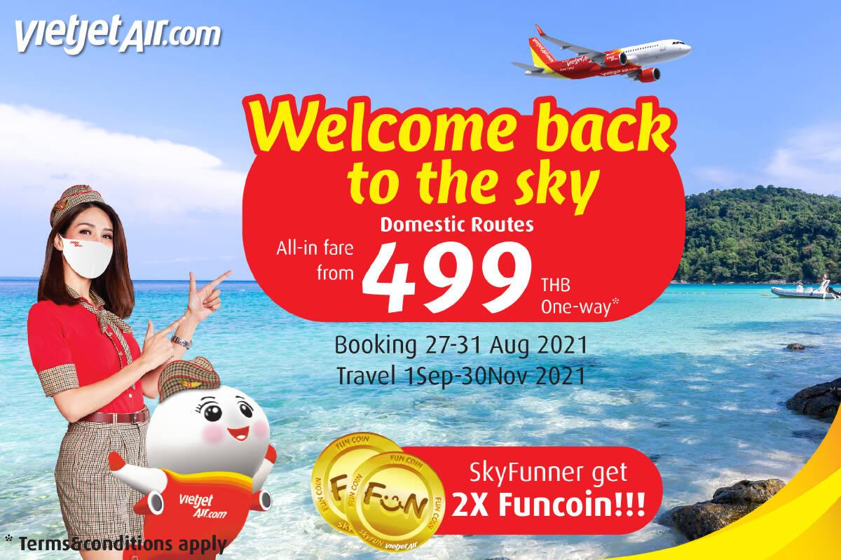 Thai Vietjet resumes domestic flights from 1st September 2021