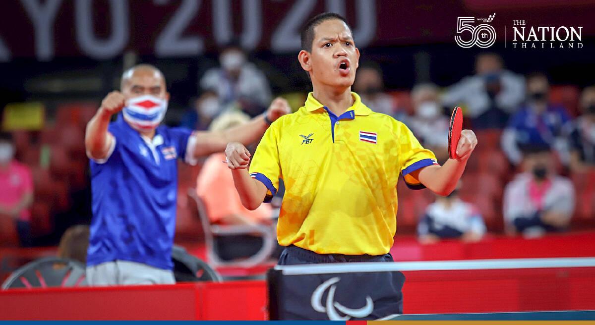 Rungroj picks up a bronze in table tennis at Paralympics
