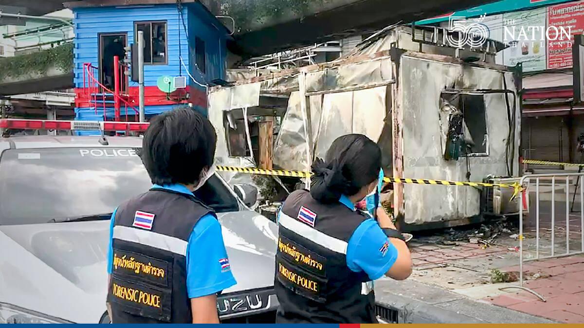 Bangkok protesters burned sub-police station, destroyed traffic fort: Police
