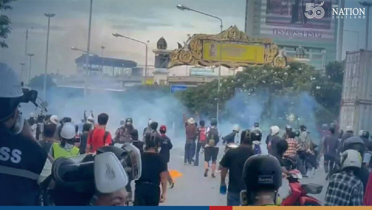 Some activists arrested as police and anti-government protesters clash in Bangkok