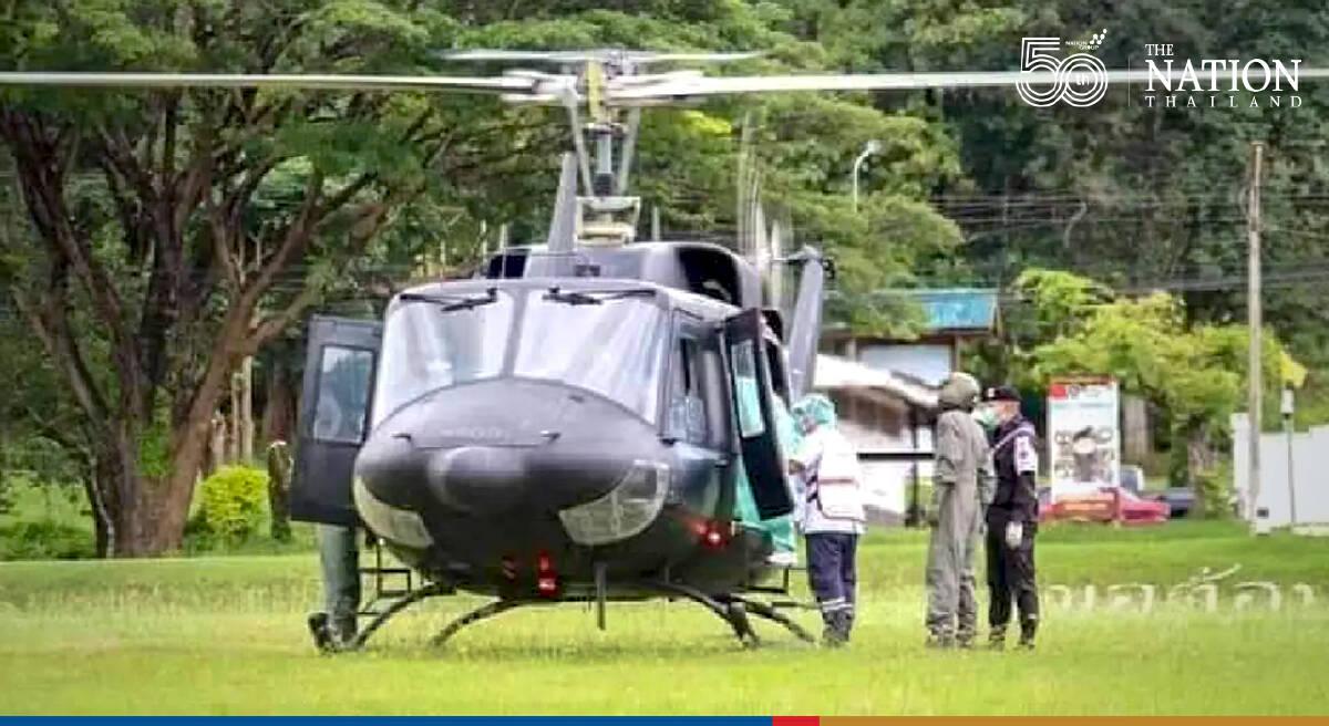 Military chopper flies newborn to Chiang Mai for medical treatment