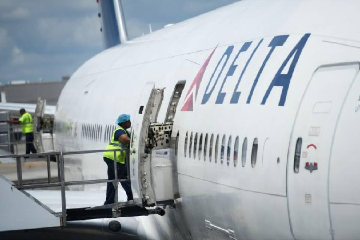 Photo taken on July 20, 2018 shows a passenger plane of U.S. Delta Air Line at Hartsfield-Jackson Atlanta International Airport in Atlanta, the United States.