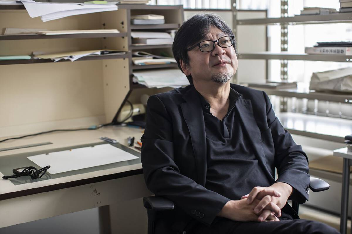 Director Mamoru Hosoda at his office in Tokyo on Sept. 9. MUST CREDIT: photo for The Washington Post by Shiho Fukada.
