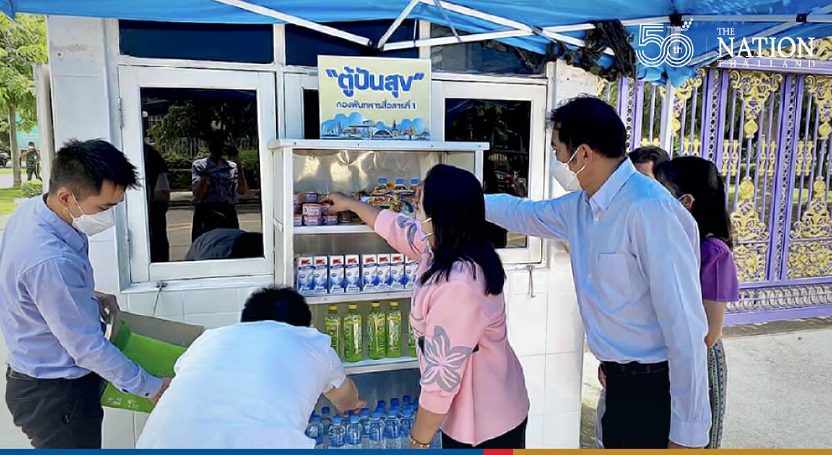 Shared pantries set up to help destitute Bangkokians