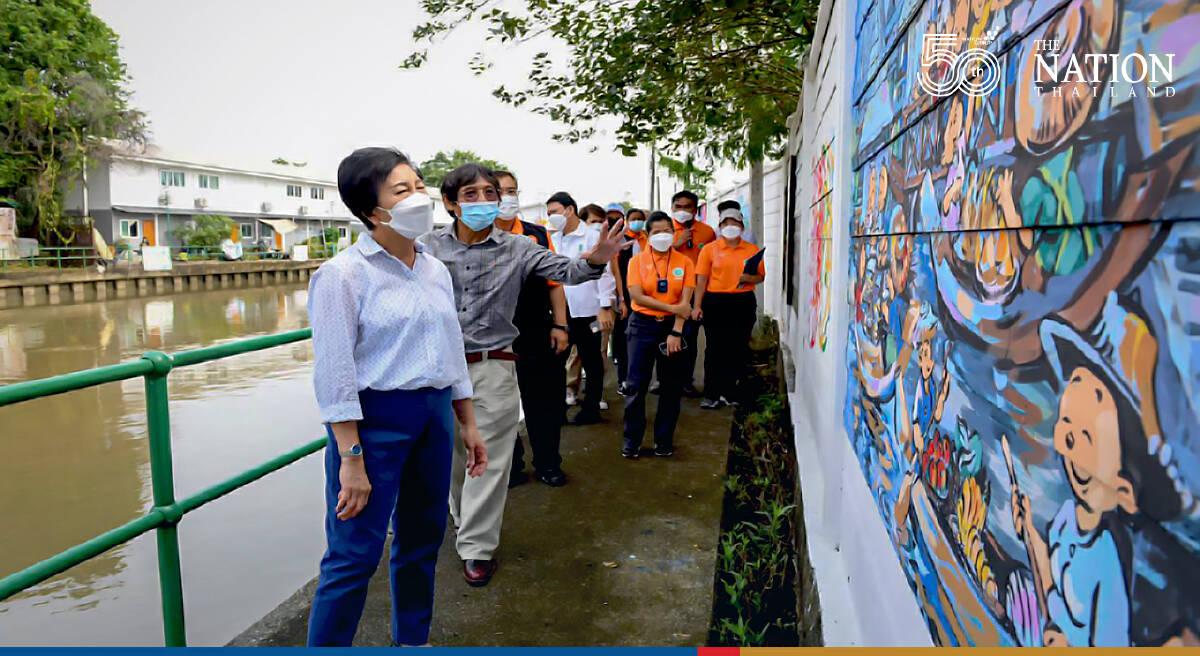 Street art ready to dazzle visitors to Prem Prachakorn canal