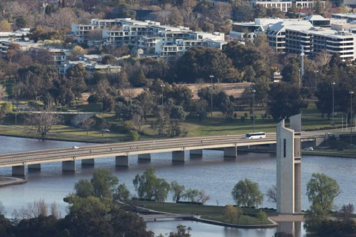 Photo taken on Sept. 14, 2021 shows a thoroughfare in Canberra, Australia.