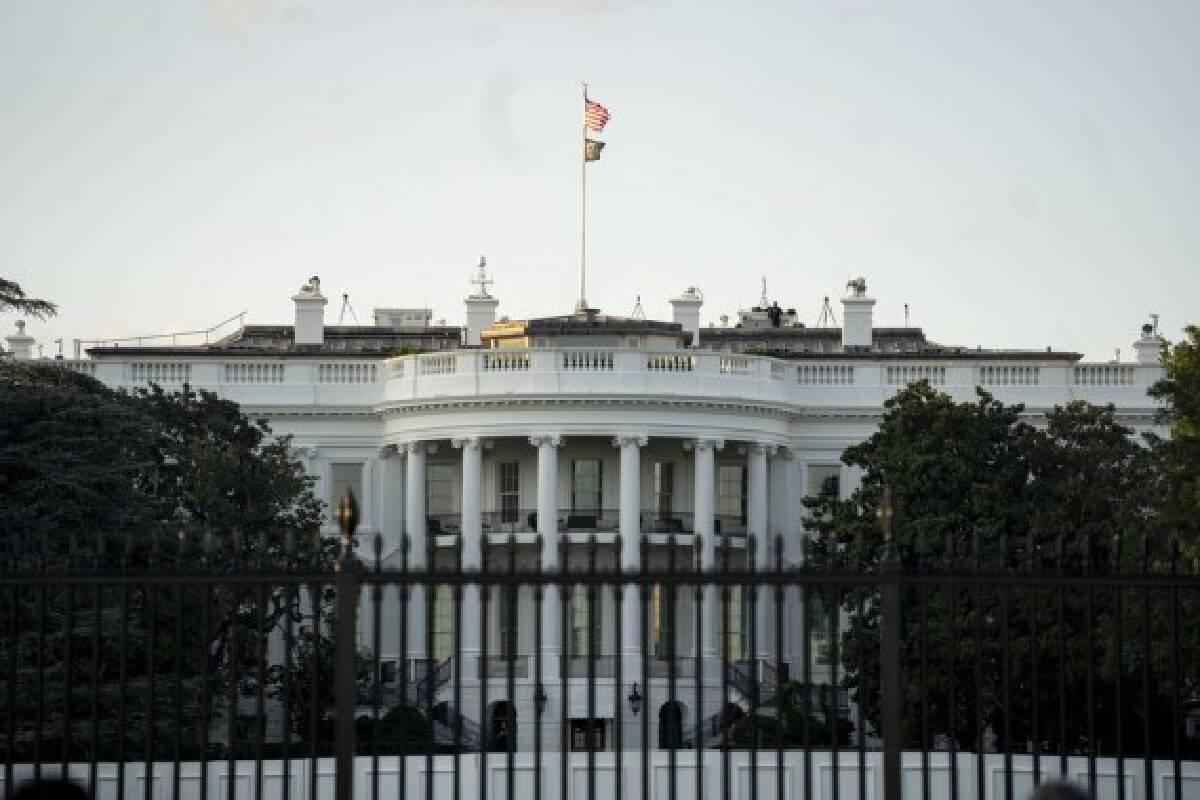 Photo taken on Sept. 3, 2021 shows the White House in Washington, D.C.(Xinhua/Liu Jie)