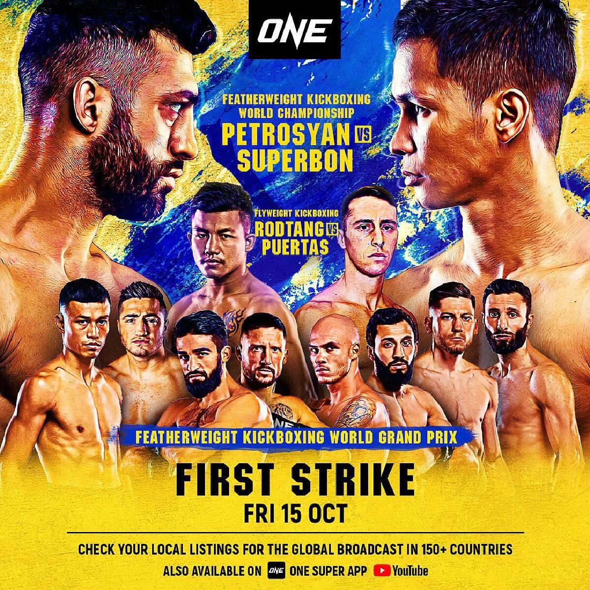 FIRST STRIKE lead card is headlined by an explosive affair between Muay Thai superstars Saemapetch Fairtex and Tawanchai PK.Saenchai Muaythaigym.