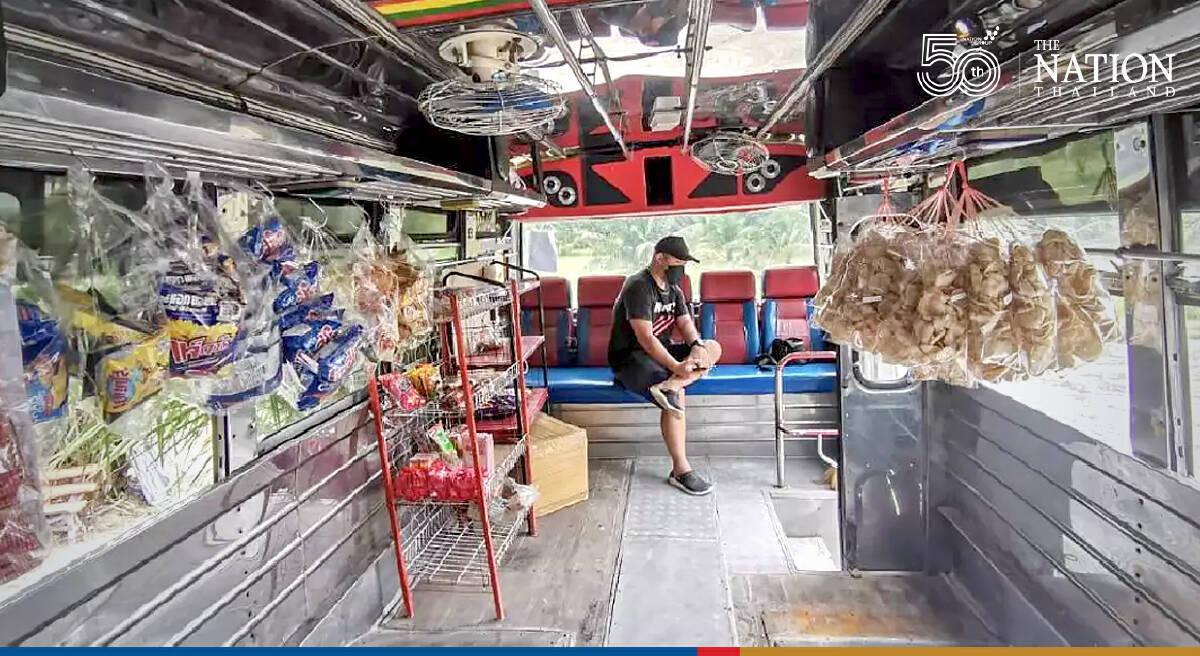 Something's brewing inside this Chonburi bus