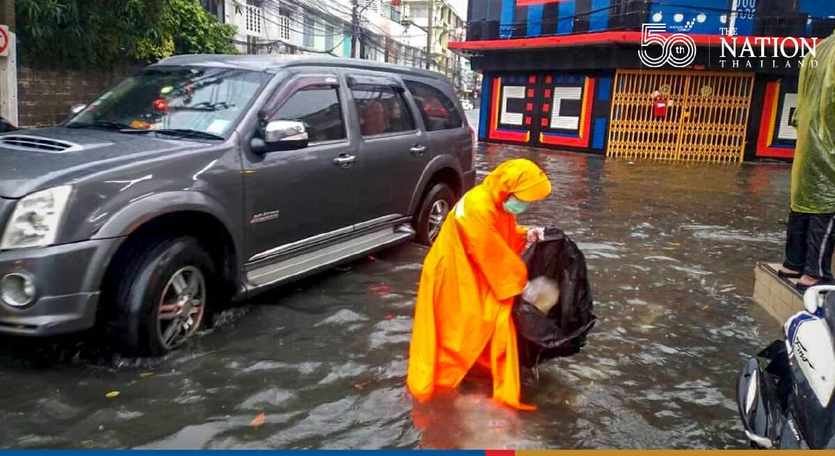 Sathorn battles flooding as heavy rains lash Bangkok