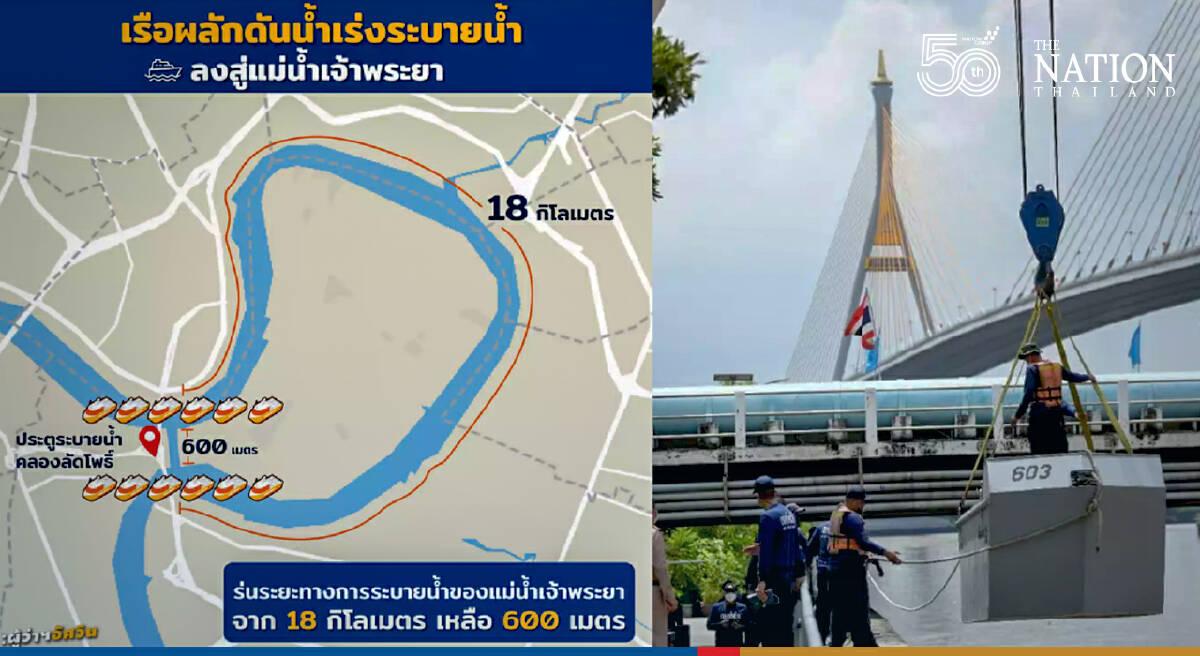 Bangkok, Navy work together to prevent flood