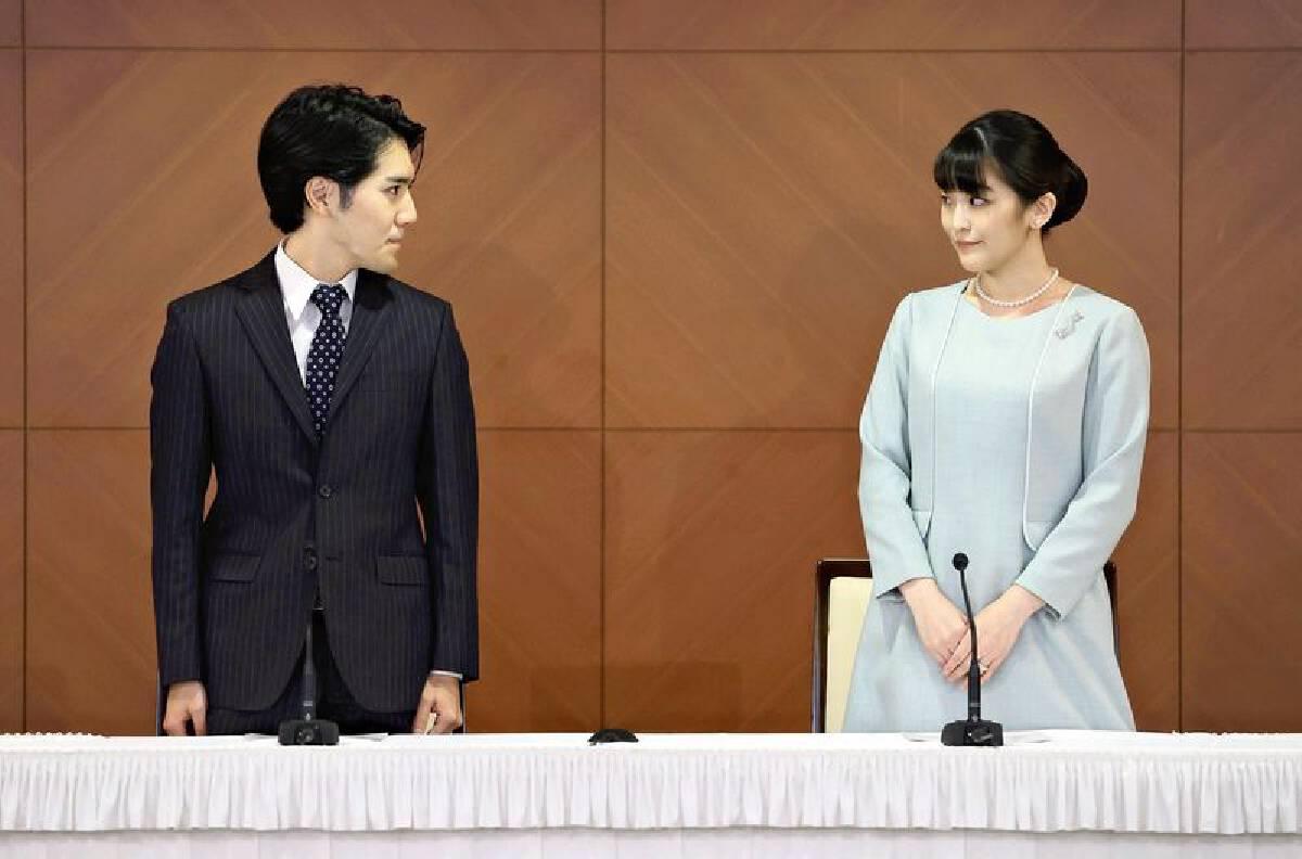 Newlywed daughter of Crown Prince Akishino holds press conference with husband Kei Komuro
