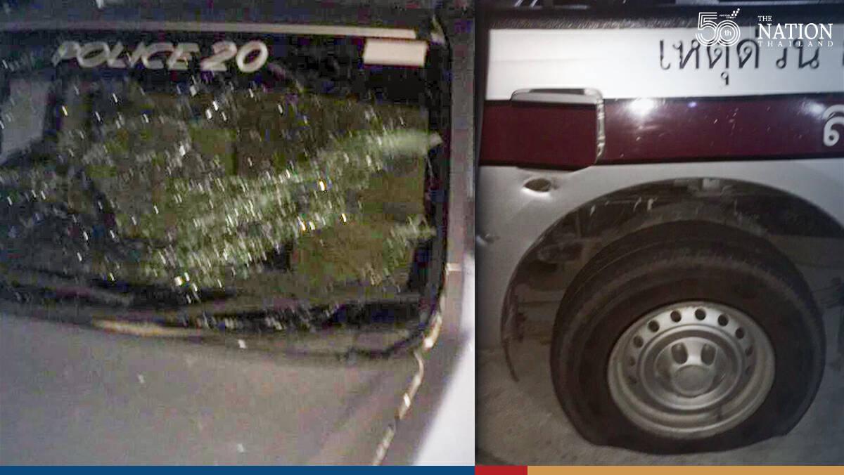 Pattani police patrol car bombing injures 5