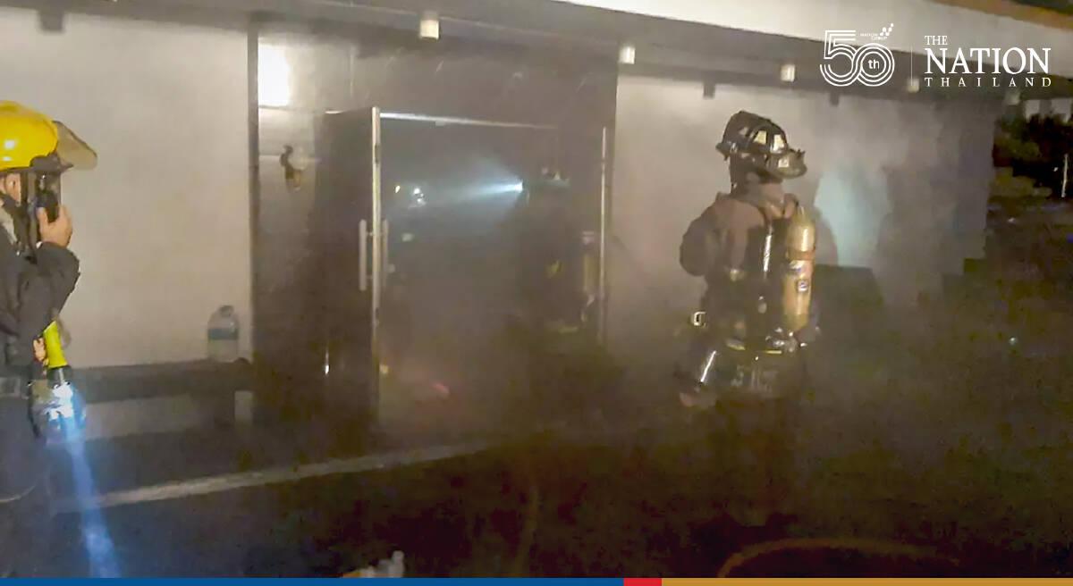 Guests break quarantine to flee fire