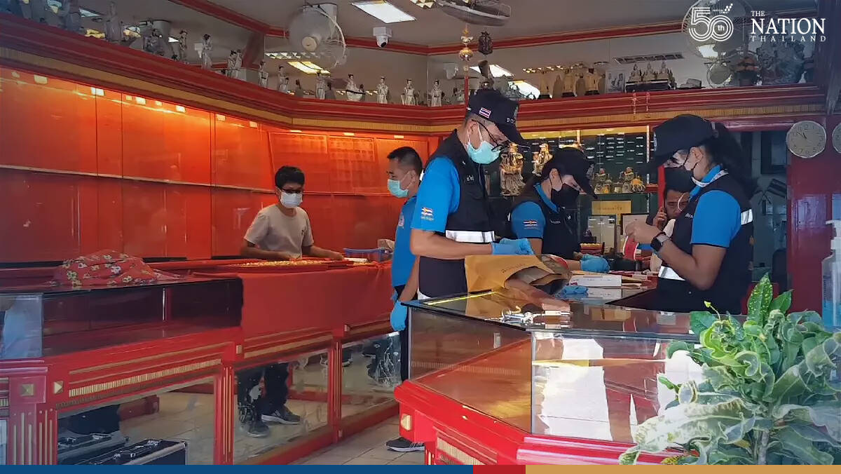 Artful thief enters store through roof, disappears with THB10 million in gold