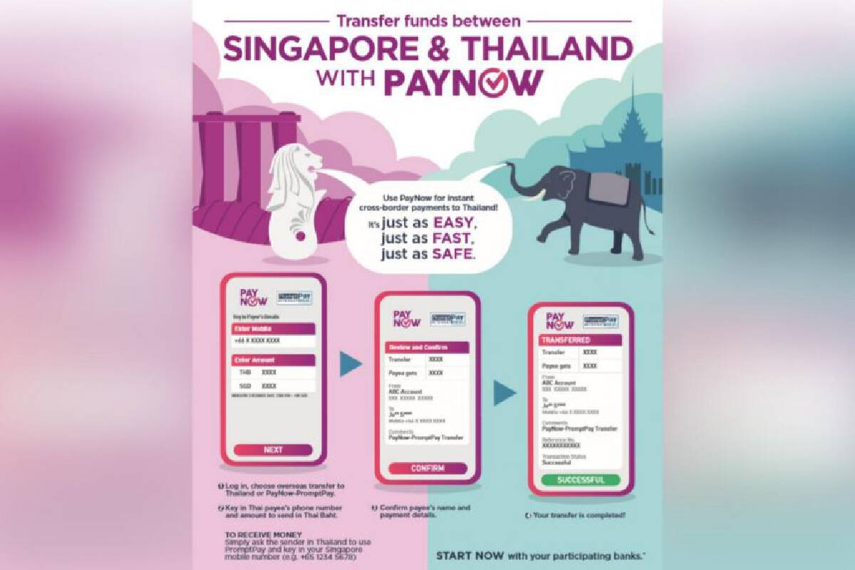 PayNow links up with Thailands PromptPay in a world first for cross-border fast payments