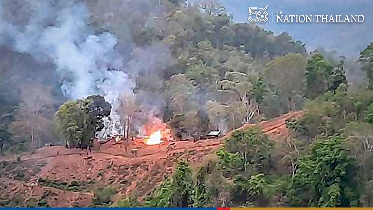 250 Thais flee airstrikes on Myanmar border