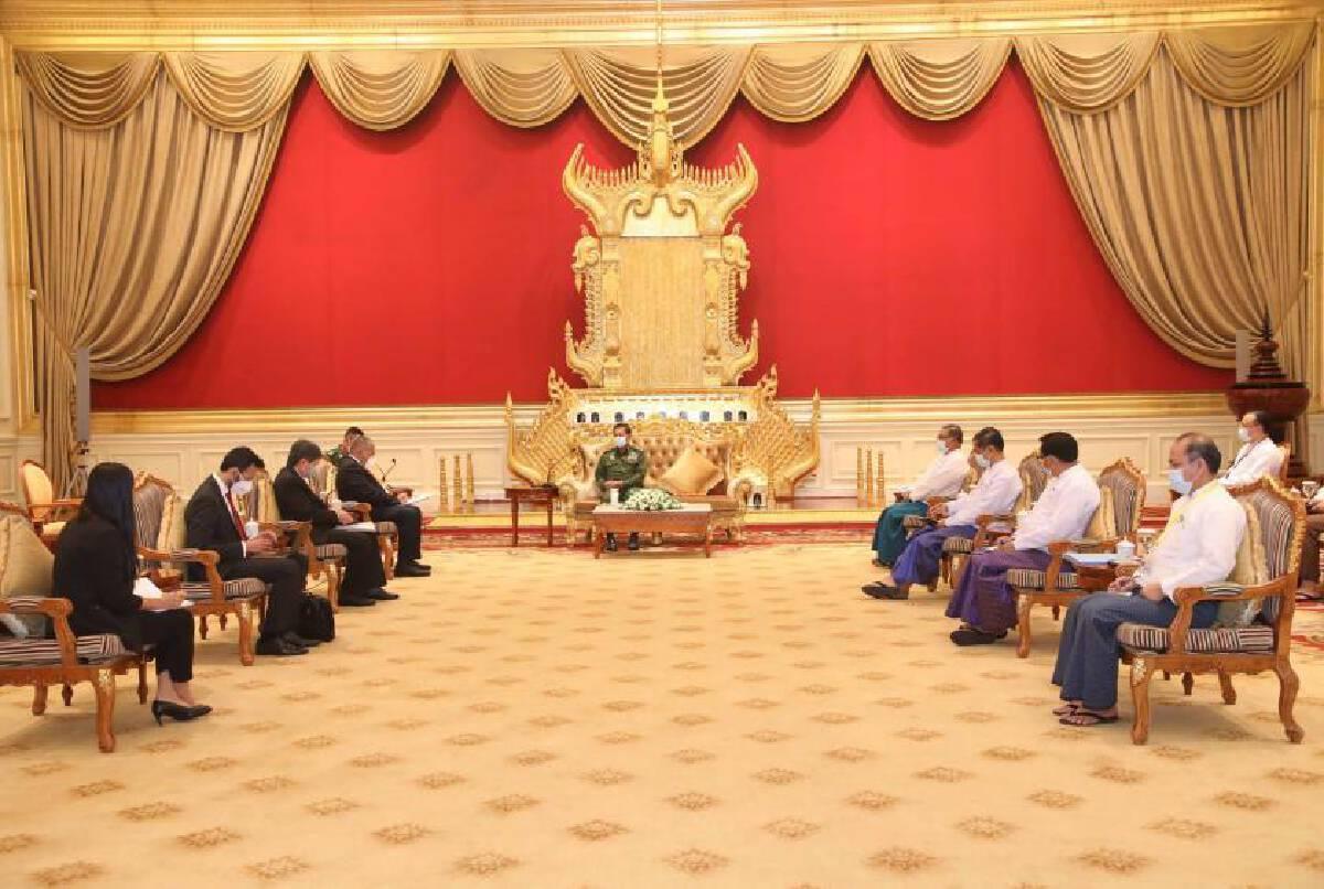 Asean envoys meet with Senior General Min Aung Hlaing