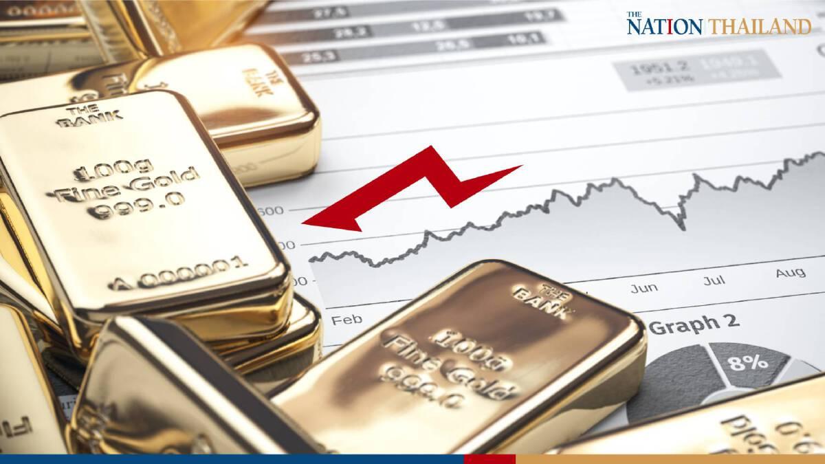 Gold drops on stronger dollar, robust US economic data