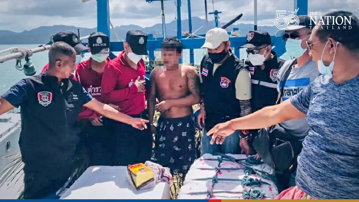 Police seize 30kg of meth from boat off Koh Tarutao