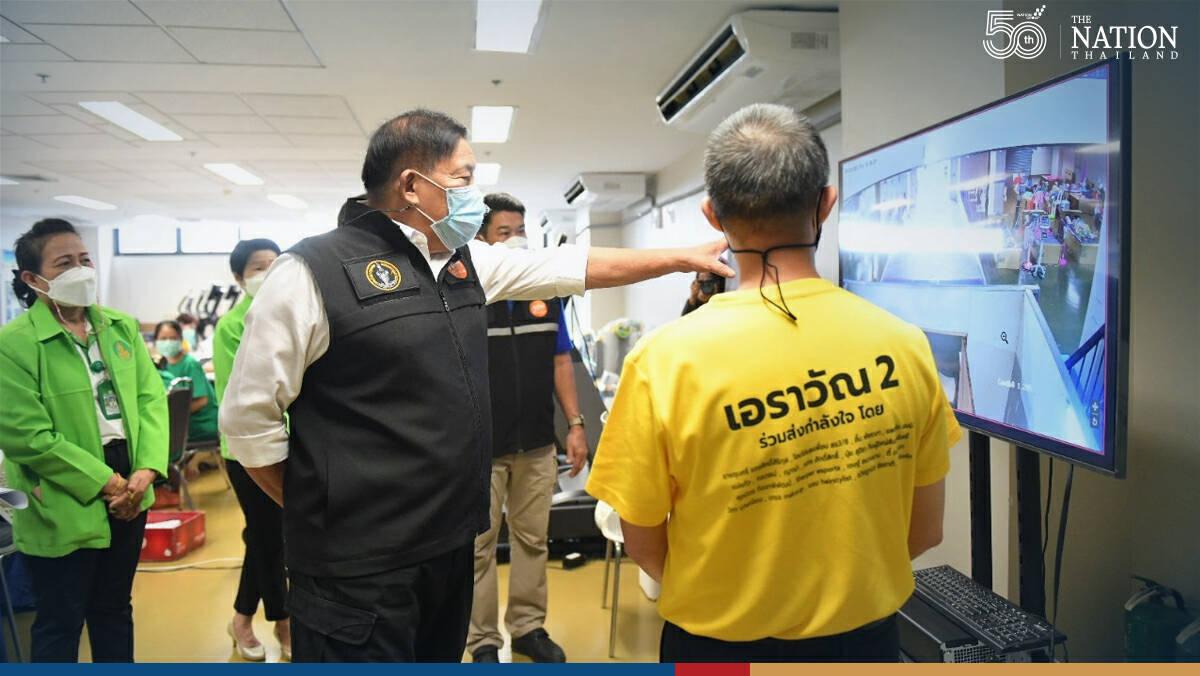 Bangkok Governor oversees Erawan 2 field hospital